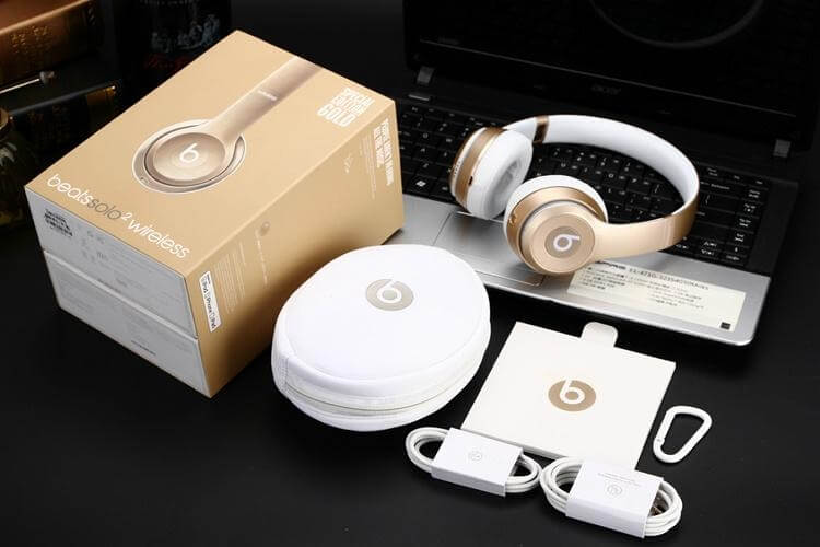 Beats by Dr. Dre Solo 2 BlueTooth Wireless Gold Edition Headphones